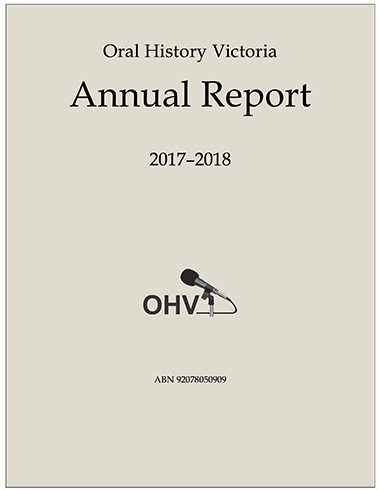 Cover of 2017-18 OHV annual report