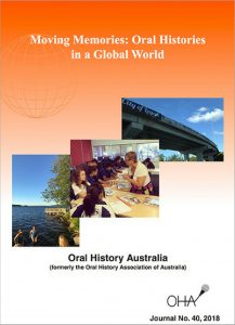 Oral History Australia journal cover image