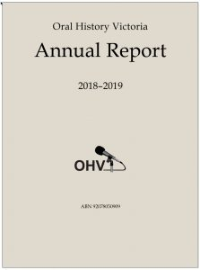 2018-19 OHV annual report cover