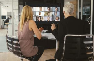 Demonstrating video conference